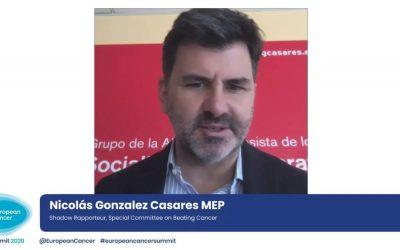 """González Casares: """"Para luchar contra el cáncer necesitamos un marco europeo que permita la especialización y movilidad de profesionales sanitarios"""""""